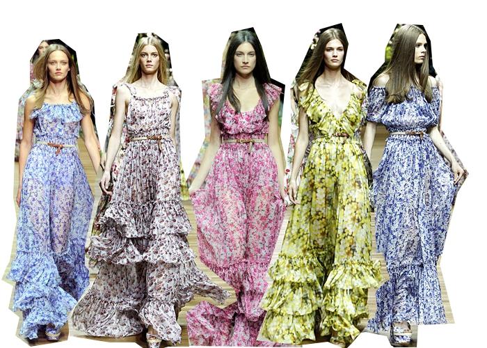 Floral Maxi Dress Designs