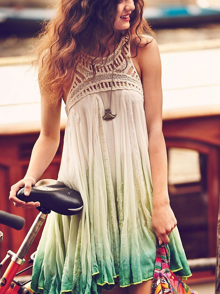 Fashionable Tie Dye Summer Dress Obre Dip Dye