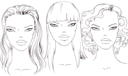 fashion face Examples