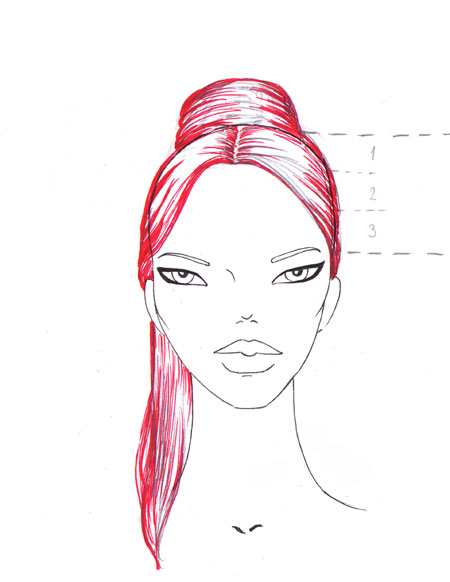 how to draw a fashion face Step_13