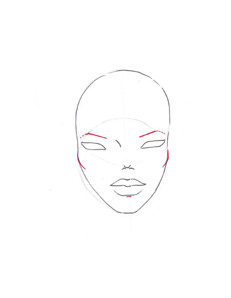 how to draw a fashion face step 10