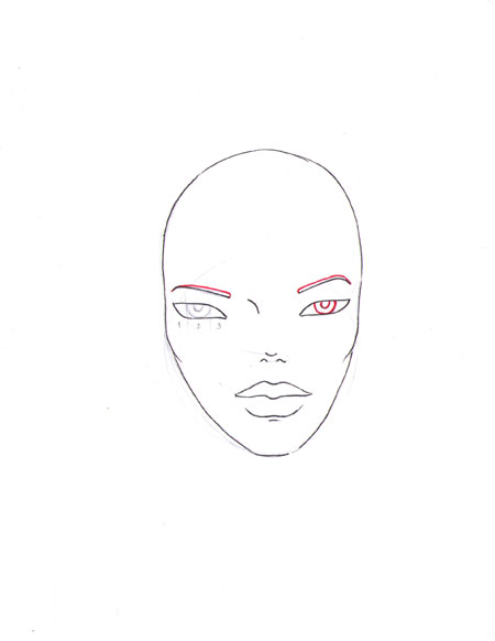 how to draw a fashion face step 11