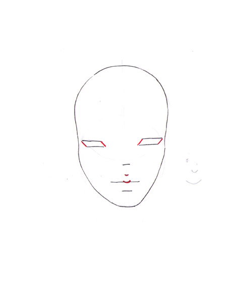 how to draw a fashion face step 7