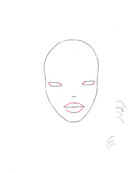 how to draw a fashion face step 8