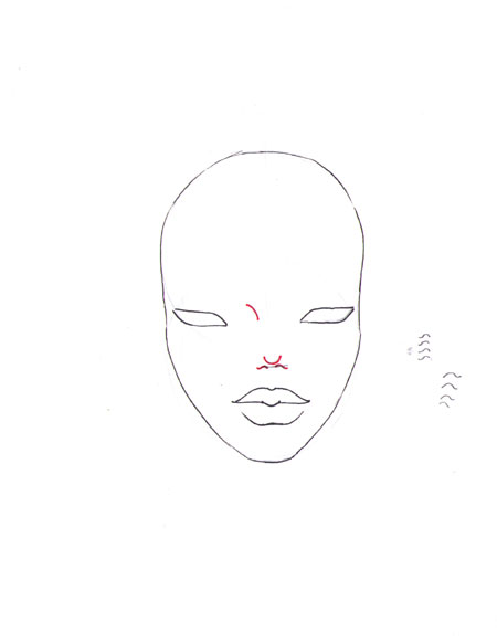 how to draw a fashion face step 9
