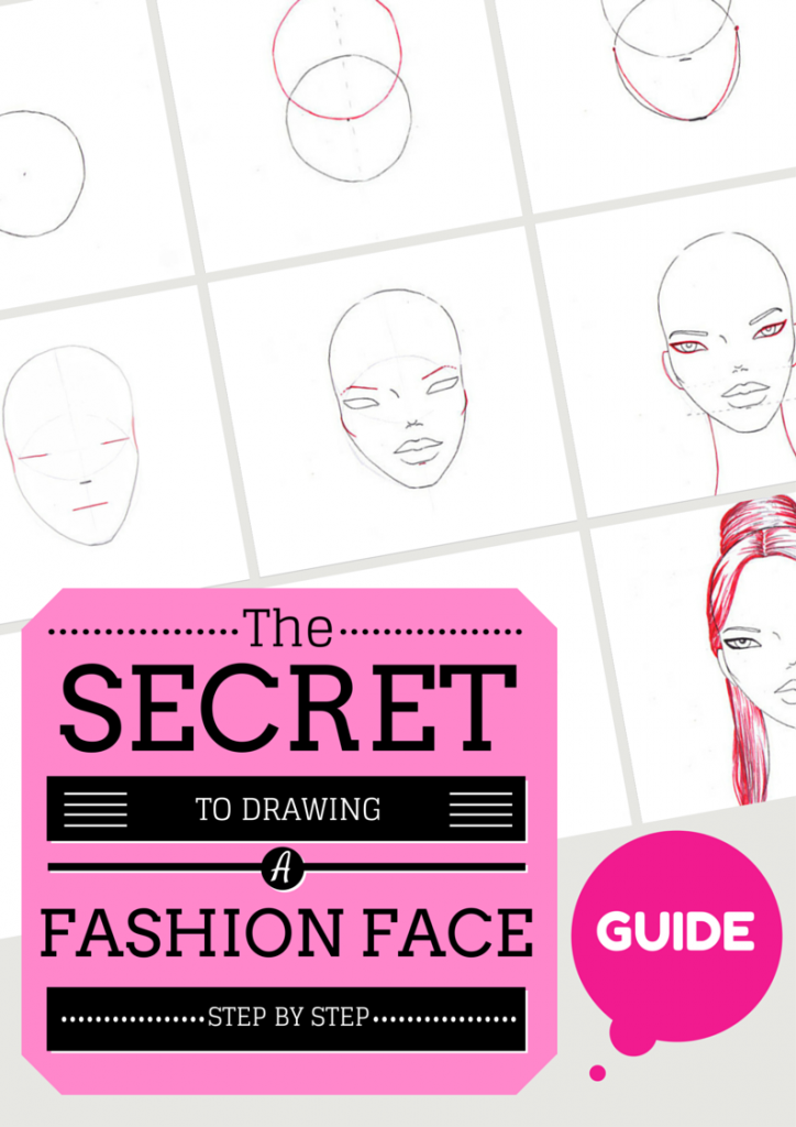 how to draw a fashion face step by step